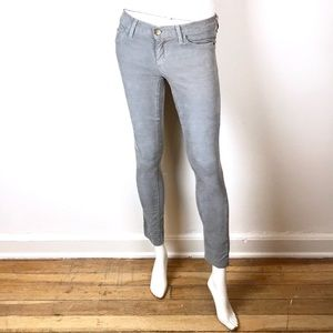 Current Elliott vintage skinny sleet corduroy gray